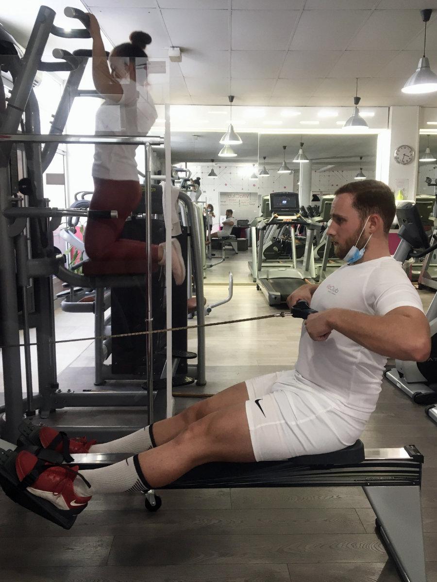 Rameur circuit-training cardio